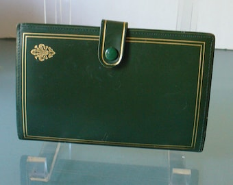 Vintage Forest Green  Calfskin Wallet Made in Italy