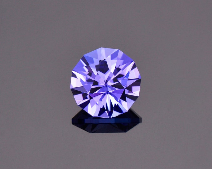 Exquisite Blue Purple Tanzanite Gemstone from Tanzania, 4.14 cts. 10 mm., Custom Round Shape.