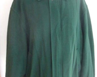 McGregor Green Vintage Wool Tartan Plaid Lining Front Zip Jacket Size 50 Jacket Chest 50 Inches