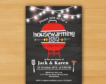 Housewarming Party Vintage Rustic Invite
