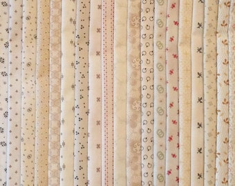 FREE SHIP 30  Civil War 1800's Reproduction Background Fabrics Fat Quarters  No Dups