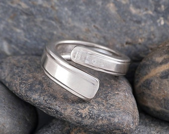 Silverware Handle Ring (Spoon Ring) Size 8 1/2 SR118