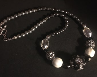 Black and White AFRICA necklace