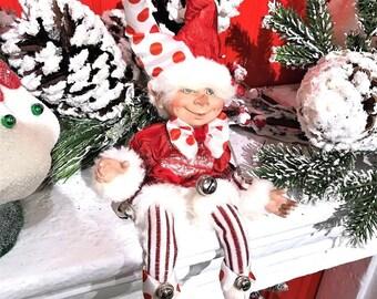 """Floridus 11 """"KANDEEZ"""" Elf (Red & White) FLO-XN706600"""
