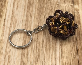 Chainmaille Dodecahedron Keychain