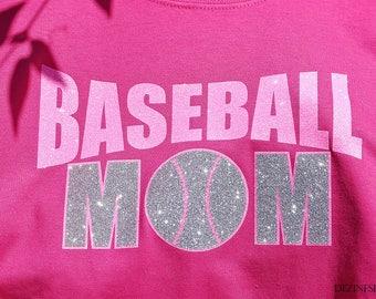 Baseball Mom SVG for vinyl Silhouette Studio Designer Edition, Baseball Mom Baseball SVG Sports SVG baseball mom svg shirt knockout text svg