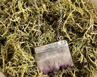 Purple and white stone