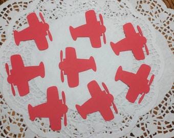 "Airplane Die Cuts Embellishments Confetti: Red (2.31"" x 2.4"")"