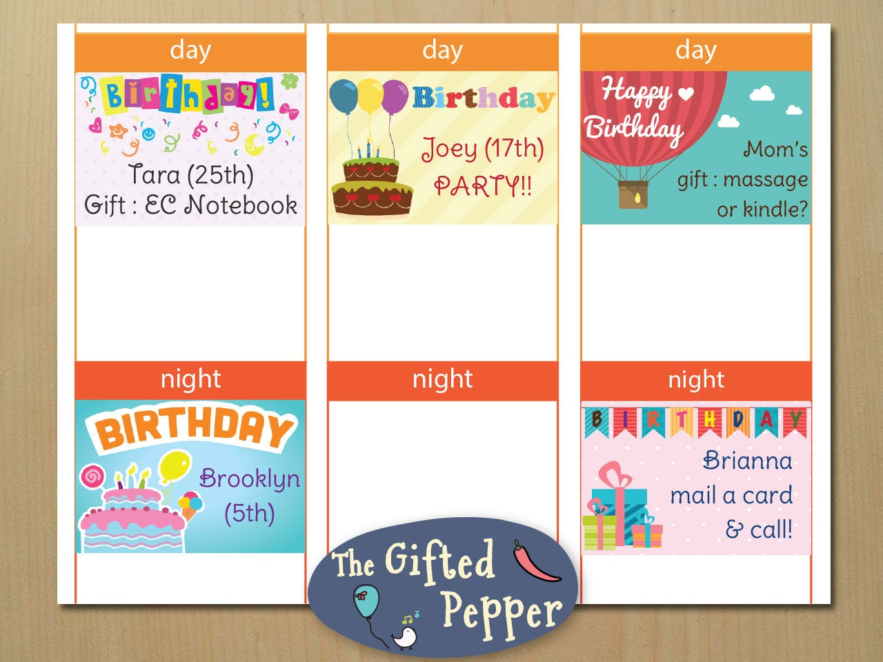 Birthday mini sticky note stickers [Printable], Gift ideas ...
