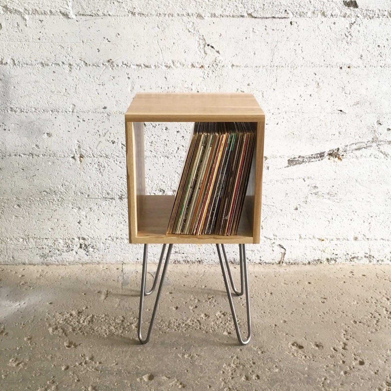 GROGG Vinyl Unit Hairpin Legs Record Player Stand & Vinyl