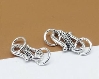 Sterling Silver S Clasp, Sterling S Clasps, 925 Silver S Clasps, Sterling Hook Clasp, Sterling Clasp Connector, Hook Clasp 11mm 13mm - TF287