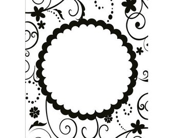 Ornament embossing workbook circle 10.6 x 15 cm_HSF006