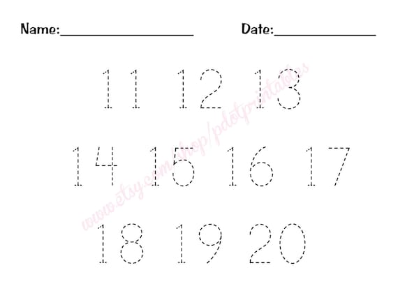 Tracing and Writing Number Words 10-15   Writing numbers, Number ...