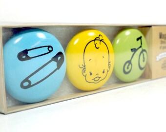 magnet set for a baby shower. (3pk)