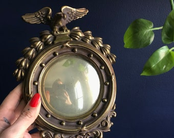 Dipped Bronze Convex Porthole Eagle Bullsey Mirror