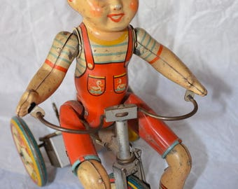 1930's Tin Kiddy Cyclist