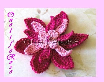 Once open a Time....3 D Crochet Flower Cyclam