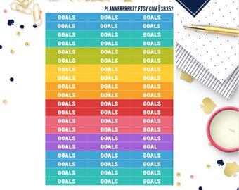 "60 ""Goals"" Section Header Planner Stickers! SB352"