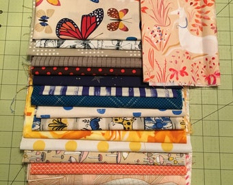 Custom Curated Coordinating Lizzy House Butterflies Bundle Premium Quilting Cotton Fabric