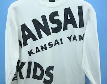 Vintage Kansai Kids Big Spell Out Logo Sweatshirt Pull Over Sweater Size M