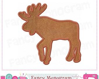 Moose applique,Moose design,Moose  embroidery,Christmas design,Christmas,New Year applique,Reindeer.Winter applique,Moose.-1606