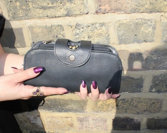 Big Fat Wallet in Black leather with multicompartments