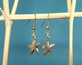 Starfish earrings earrings with starfish in silver
