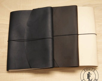 """Leather Moleskine Extra Large Notebook Cover (10"""" x 7.5"""")"""