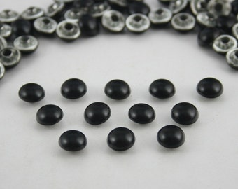 100 pcs. Black Dome Mushroom Studs Rivets Decorations Findings 8 mm. WYRDBL85
