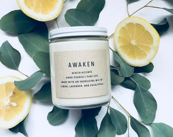 Awaken | Pure Soy Candle | Jar Candle | Essential Oil Candle