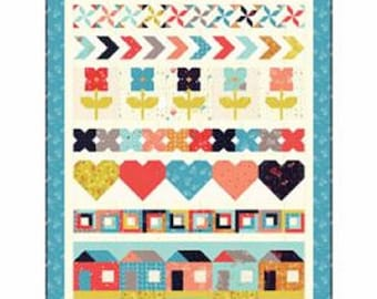 Moda Fabrics - Favorite Things Quilt Kit featuring Desert Bloom Fabric Collection by Sherri & Chelsi