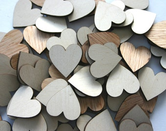 100 Laser Cut Wooden Hearts Wedding Decor