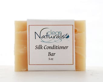 Silk Conditioner Bar - Conditioning Shampoo - Natural Shampoo Bar.Solid Shampoo Bar.All Natural