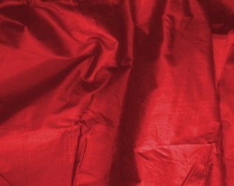 silk fabric - 100% pure - cranberry red - fat quarter - sld064