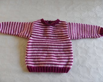 sweater with pink and white stripes 12 months