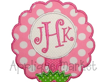 Machine Embroidery Design Applique Golf Scallop INSTANT DOWNLOAD
