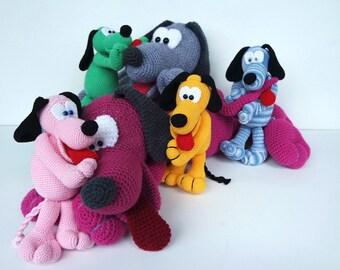 Crochet Pattern Cuddly Dog Othello