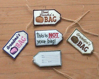 Luggage tag, book bag tag,  gym bag tag, address label, custom, travel
