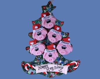 Pig (6) ornament Family tree