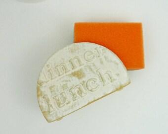 sponge holder white ceramic, kitchen utensil holder, sink organizer