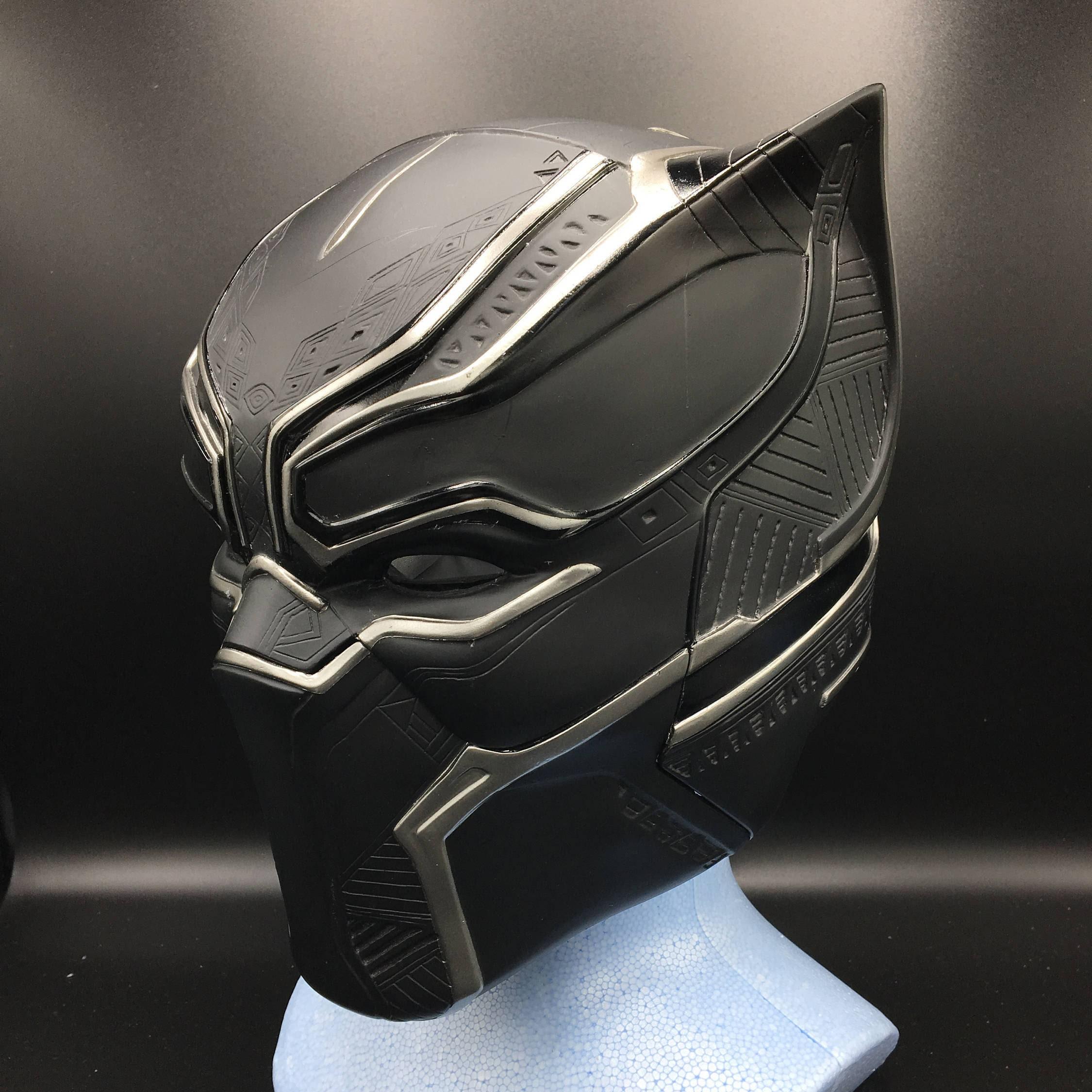 Black Panther Helm lebensgroße Skala voll Muster detail Malen