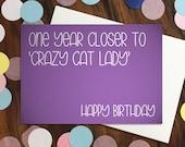 Birthday card - 'One ...