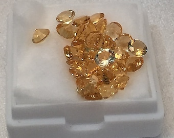 4 mm,  Gold Citrine Round