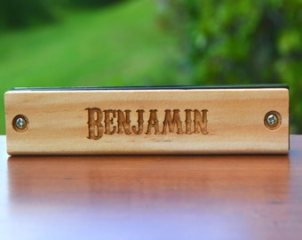 Personalized Kids Gift, Engraved Harmonica, Personalized Kids Toy, Wood Harmonica, Birthday Present, Kids Gift Christmas, Wedding Gift Kids