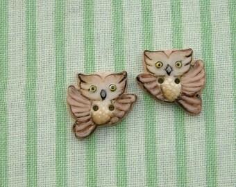 Owl Pair Buttons