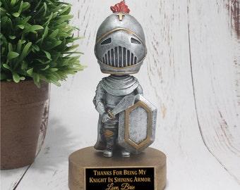 Knight Bobble Head Resin Award - Great for Valentine's Day - Knight in Shining Armor - School Awards