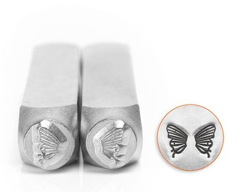 Butterfly Wings Metal Stamp Pack, Two Stamps, ImpressArt 6mm, Fairy Wings, Stamping Tool for Stamped Jewelry