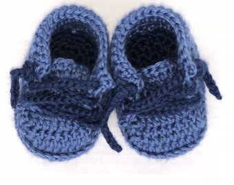 Baby Crochet Sneakers - Sneakers - Newborn Shoes - Baby Shoes - Blue Sneakers