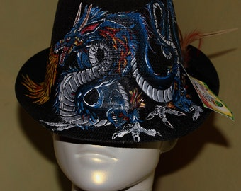 Hand Painted Dragon Fedora