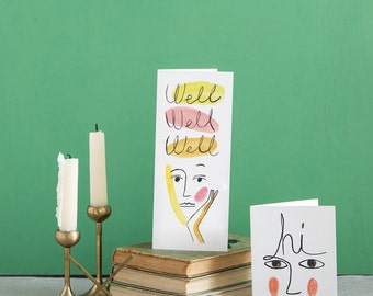 Well Well Well Tall Greeting Card